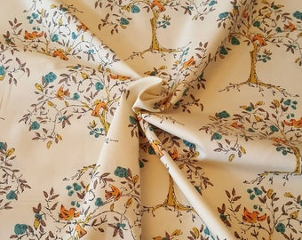 Art Gallery Fabric premium quality dressmaking quilting fabric 100% cotton Tapestry Eternal Brio floral tree bird white