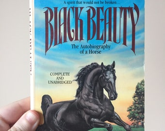 1988 Black Beauty - By Anna Sewell - Vintage and Used - Young Adult Youth Novel