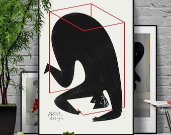 Polish Design poster. Original illustration art poster giclée print signed by Paweł Jońca.