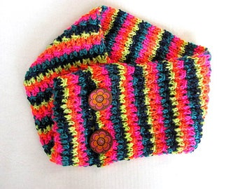 Cowl in Neon Day Glo Colors Neck Warmer Free US Shipping