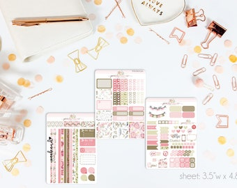 Flora MINI Weekly Kit // 130+ Matte Planner Stickers // Perfect for your Personal Planner // WKM0530