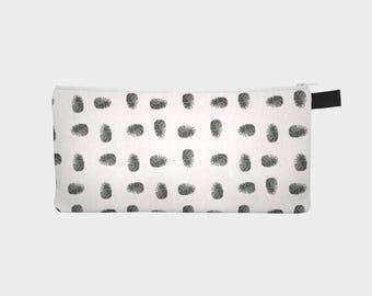 Pine Cone Accessory case - makeup bag - pencil case - craft bag