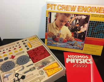 Pit Crew Engineer by NSI, 1988 - Vintage 1980s Physics Learning and Experiment Set - Like New, Educational Toy, Unopened Parts, Science