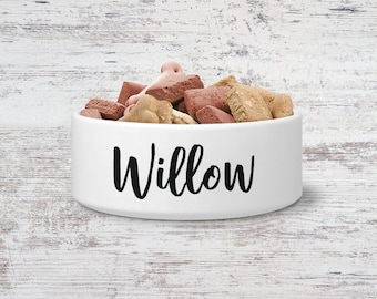 Willow Custom Pet Bowl Small or Large Dog Bowl Ceramic Cat Bowl Dish Pet