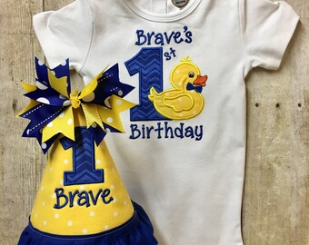 First Birthday Rubber Ducky, 1st Birthday Bodysuit, Rubber Ducky Bodysuit, 1st Birthday Outfit, Birthday Shirt, 1st Birthday Rubber Ducky