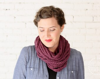 THE SKIPJACK COWL | 21 Color Choices | Chunky Knit Infinity Rope Loop Cowl Scarf