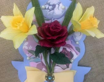 A Handmade Flower Greeting Card