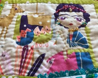 Frida Kahlo Mini Quilt Wall Hanging