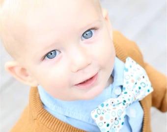 Oliver . Bow Tie . Retro Multi-Colored Dots