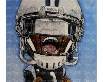 Cam Newton, Carolina Panthers, Art Photo Print.