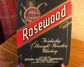 Vintage Rosewood Kentucky Straight Bourbon Whiskey Label - Louisville, Kentucky