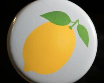 Lemon button/pin