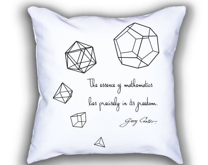 Featured listing image: Five Platonic Solids throw pillows