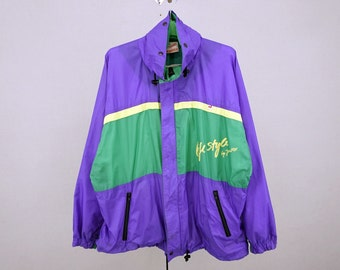 Jeantex Windbreaker Men Size M/L 80s 90s Jeantex Vintage Colorblock Sailing Jacket