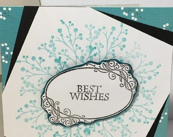 Best Wishes Any Occasion Handmade Greeting Card
