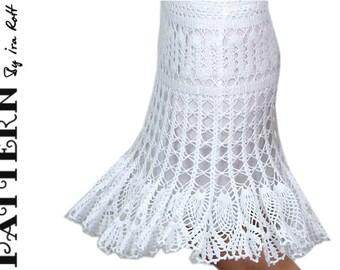 Bruges Crochet Lace Skirt PDF Crochet Pattern Instant Download