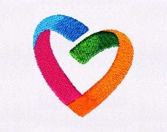 Creative Heart Embroidery Design | 4x4 Hoop Embroidery Design | Machine Embroidery Design | Embroidery Designs | DigitEmb Design