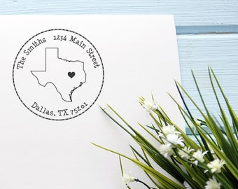 TX State Love Self- Inking Custom Address Stamp
