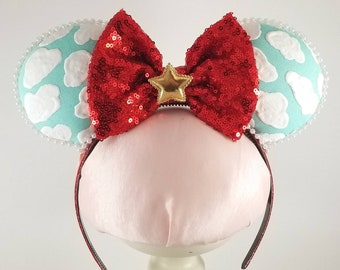 Toy Story Minnie Mouse Ears Headband With a Red Sequin Bow