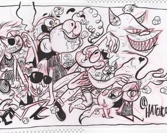 Parade original illustration