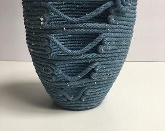 Denim Blue 1/4 Cotton Rope Pot