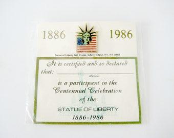 Statue of Liberty Pin, Statue of Liberty Pin Lapel Pin, Centennial Statue of Liberty Pin, Lady Liberty Pin, Americana Memorabilia,