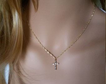 Cross Necklace Cross Jewelry Crucifix Necklace Religious Jewelry Christian Jewelry Faith Necklace Religious Necklace Christian Necklace 004