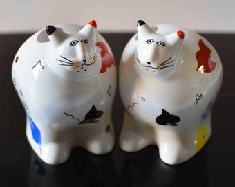 Vintage Animal Park Cat Salt and Pepper Shakers Villeroy Boch Rosemarie Benedikt