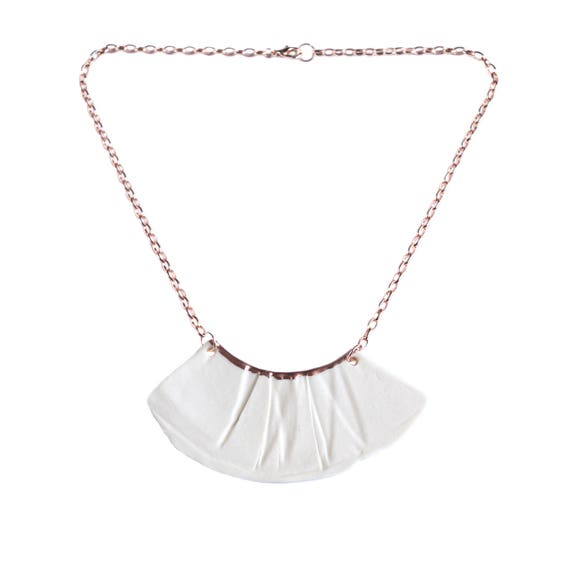 RUCHED No1 bib necklace