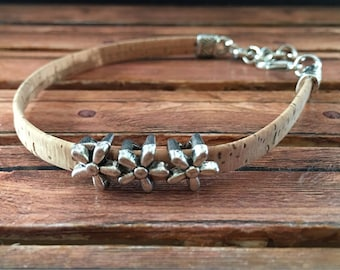 Slide Charm Cork Band Bracelet