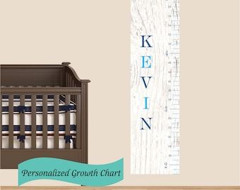 Custom Wooden  personalized kids growth chart nursery decor baby gift personalized growth chart