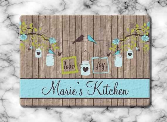 Gift for Mom Personalized Gift for Grandma Glass Cutting Board Custom Monogrammed Gifts Hostess Housewarming Serving Board