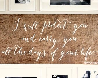 Bible Verse Sign - Wooden Signs - Wood