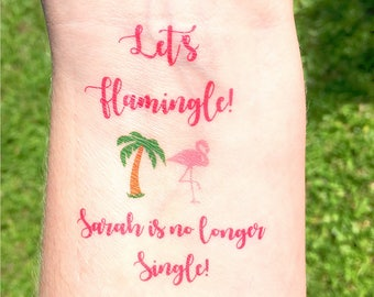 Flamingo Party Favors - Flamingo Bachelorette Party - Flamingo Wedding Favors - Flamingo Party - Let's Flamingle - Beach Wedding Favors