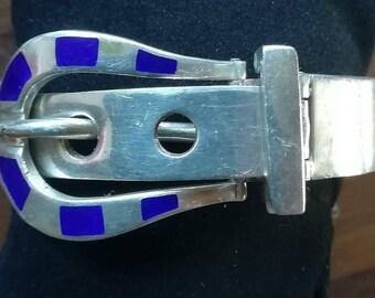 Sterling silver belt bracelet,Belt Buckle, Silver Bracelet, Vintage Belt Bracelet,Valentines,Vintage Bracelet, Vintage silver, Belt Bracelet