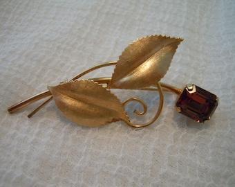Van Dell Brooch ~ Vintage ~ Flower Pin ~ Flower Brooch ~ Brooch ~ 12K G.F. ~ Gold Toned ~ Womens ~ Jewels ~ Jewelry ~ Gift ~ Pin