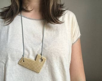 Polygon Ceramic Pendant Necklace