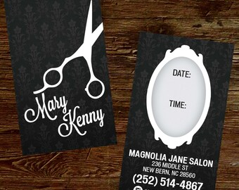 Custom Hair Stylist Business Cards - PROFESSIONALLY printed!