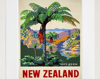 New Zealand Travel Art Sign Wall Decor Poster Print (XR311)