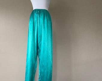 L / Satin Sleep Pajama Pants Lingerie / Large / FREE USA Shipping