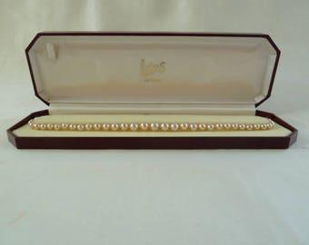 Vintage Lotus pearl necklace, graduating pearls, cream pearls, wedding pearls, bridal pearl necklace, wedding necklace, wedding jewelery