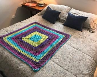 Vintage style crochet Lap/Baby/Car blanket