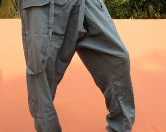 Pants sarwel men's cotton blue / gray