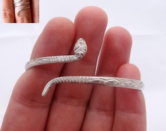 Snake Ring And Snake Bracelet Set, Silver Snake Jewelry Set, Solid Silver Set, Silver Jewelry Set, Silver Jewellery Set Best Gift Idea