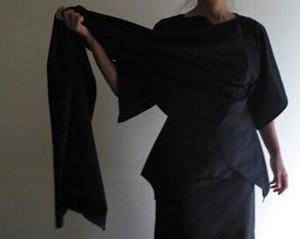 Minimalist Fashion Kimono Wool Wrap Jacket/Coat by NervousWardrobe on Etsy