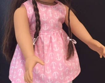 "Pattern for 18 "" Doll Dress, Top, Capris & Headband fits American Girl Doll"