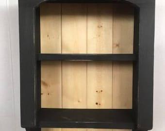 Primitive Country Farmhouse Bathroom/Kitchen Shelf Cabinet Paper/Towel Holder