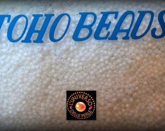 Toho 41 Opaque White Round Seed Beads