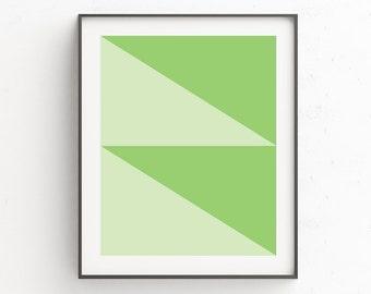 Printable Green Art, Abstract Art, Minimalist, Geometric Print, Green Wall Art Decor, Geometric Art, Geometric Wall Art, Green Print Art