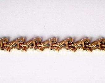"14K Yellow Gold Parrot/Parakeet Design Bracelet, 7"" Long"